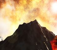 Volcanic eruption Stock Image