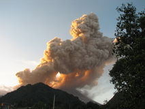 Volcanic eruption Stock Photography