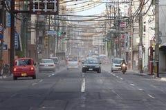 Volcanic eruption brings  ash to Kagoshima City Stock Photo