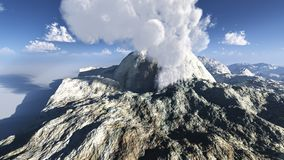 Volcanic eruption on the island Stock Photo