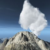 Volcanic eruption on island Royalty Free Stock Image
