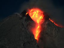 Volcanic  eruption mountain Royalty Free Stock Image