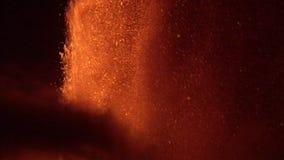Volcanic eruption night stock video