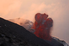 Volcanic eruption part 3 Royalty Free Stock Photos