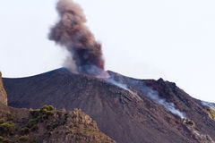 Volcanic eruption, Stromboli Stock Images