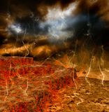 A volcanic eruption Stock Image