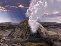 Volcanic eruptions Royalty Free Stock Photos