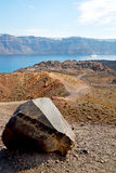 Volcanic  in europe  sky and mediterranean sea Royalty Free Stock Photo