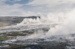 Volcanic fields of Hveravellir, Iceland Royalty Free Stock Photos