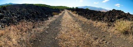 Volcanic fields Royalty Free Stock Photo