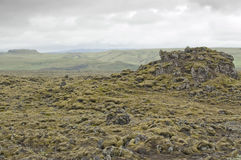 Volcanic flow in Laki (Iceland) Royalty Free Stock Images