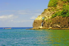Volcanic Formation-St. Lucia Stock Photography