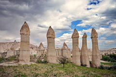 Volcanic formations in Cappadocia - Turkey Stock Image