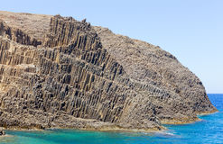Volcanic formations on Glaronissia islets, Milos island, Greece Stock Photo