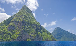 Volcanic Formations-St. Lucia In Summer Royalty Free Stock Photo