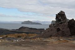 Volcanic Formations on Vestmannaeyjar Royalty Free Stock Images