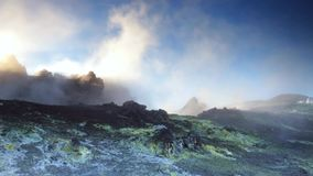 Volcanic gases stock video footage