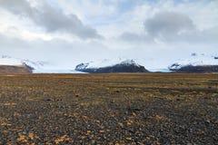 Volcanic glacier landscape Royalty Free Stock Images