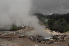 Volcanic hot spring on the Azores Royalty Free Stock Photos