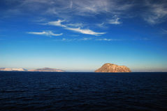 Volcanic island in Greece Stock Photo