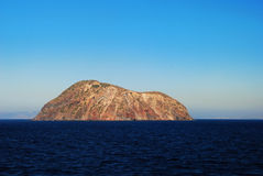 Volcanic island in Greece Royalty Free Stock Photography