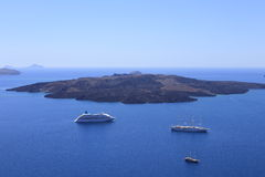 The volcanic island, Santorini, Greece Royalty Free Stock Photography
