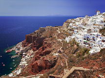 Volcanic island of Santorini Stock Images