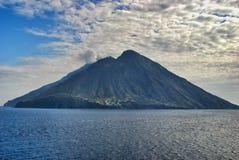 Volcanic island Stromboli Stock Image