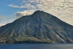 Volcanic island Stromboli Stock Images