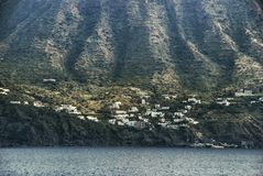 Volcanic island Stromboli Stock Photo
