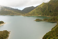 Volcanic lake in Azores, Portugal Royalty Free Stock Photography