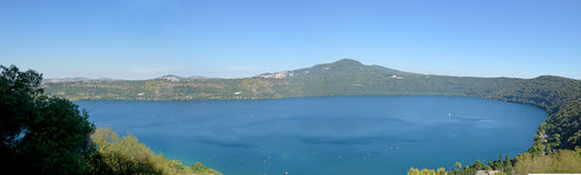 The volcanic lake of Castel Gandolfo in the Castelli Romani - La. The volcanic lake of Castel Gandolfo in the Castelli Romani in Lazio Royalty Free Stock Photos