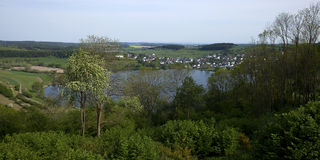 Volcanic lake in the Eifel, Germany Royalty Free Stock Photos