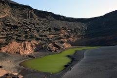 Volcanic Lake El Golfo, Lanzarote Royalty Free Stock Photography