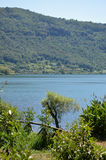 The volcanic Lake Nemi in the Castelli Romani - Lazio Stock Photography