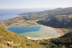 Volcanic lake, Pantelleria Stock Photo