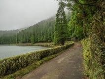 Volcanic lake stock image