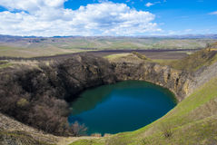 The volcanic lake. Warming enviroment Royalty Free Stock Image
