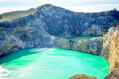 Volcanic lakes. Coloured lakes at Kelimutu, Flores, Indonesia Stock Images