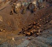 Volcanic land in europe santorini greece sky and mediterranean s Royalty Free Stock Photo