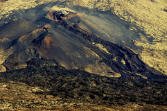 Volcanic landscape. With lava flows in Teide national park on Tenerife island Stock Photography