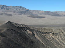 Volcanic Landscape. In the Death Valley national park in California near Ubehebe Crater Royalty Free Stock Photo