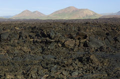 Volcanic landscape Royalty Free Stock Images