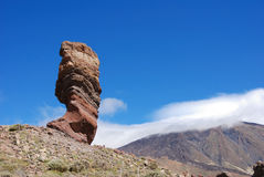 Volcanic landscape. At volcano teide in tenerife Royalty Free Stock Photo