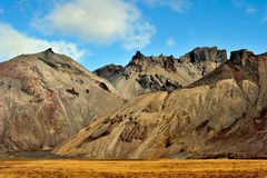 Volcanic landscape. On iceland a fine day Royalty Free Stock Photos