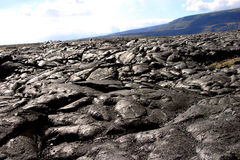 Volcanic Landscape. A volcanic eruption changes the landscape on the Big Island of Hawaii royalty free stock photo