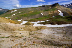 Volcanic Landscape with ancient cone Royalty Free Stock Image