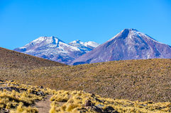 Volcanic landscape in the Atacama Desert, Chile Royalty Free Stock Photos