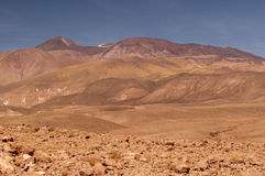 Volcanic landscape on Atacama desert, Chile Stock Photos