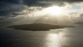 Volcanic landscape with caldera on greece island santorini Stock Photography